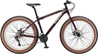 Mongoose Vinson Fat Tire Mountain Bike, Featuring Rigid 18-Inch Aluminum Frame, 24-Speed Shimano/SRAM X4 Drivetrain, Dual Mechanical Disc Brakes, and Alloy 26x4-Inch Wheels, Burgundy