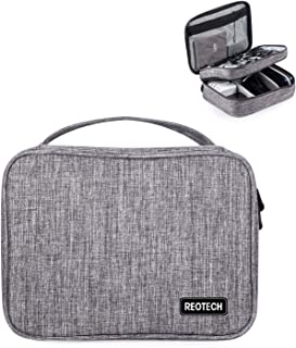 Electronic Organizer, Double Layer Travel Accessories Storage Bag for Cord, Adapter, Battery, Camera and More-a Sleeve Pou...