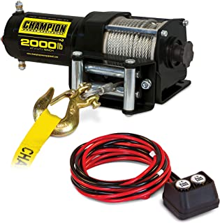 Champion Power Equipment 12003 2000 LB. ATV/UTV Winch Kit (1