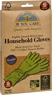 If You Care Household Gloves - Reusable - Small - 1 Pair (Pack of 2)
