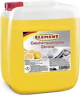 Detergente para lavavajillas concentrado líquido lavavajillas–Lavavajillas Limón 5l–Limpiador para vajilla Vajilla limpiador Bidón