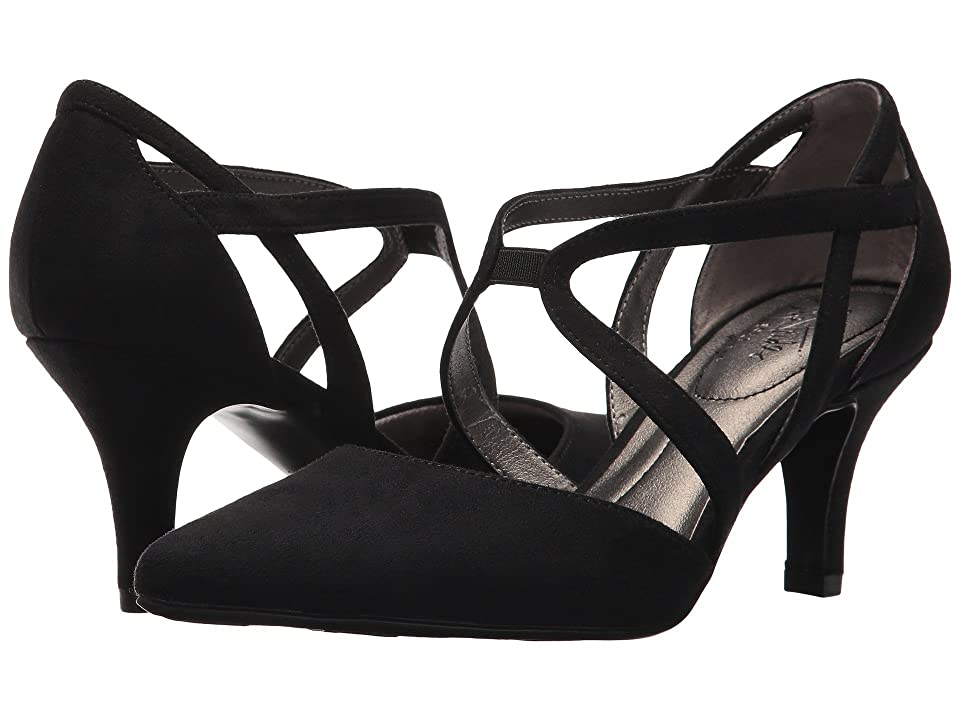 1920s Style Shoes LifeStride Seamless Black Micro High Heels $59.99 AT vintagedancer.com
