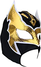 Kids Lucha Libre Hero Wrestling Mask - Open Mouth Model, Black