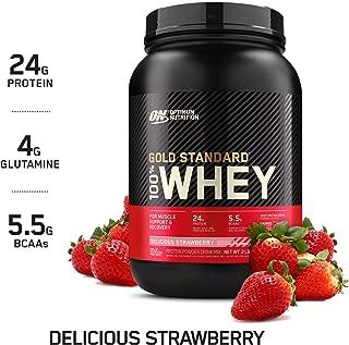 Optimum Nutrition Gold Standard 100% Whey Protein Powder, Delicious Strawberry, 2 Pound..