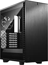 Fractal Design Define 7 Compact Black Brushed Aluminum/Steel ATX Compact Silent Tempered Glass Window Mid Tower Computer Case
