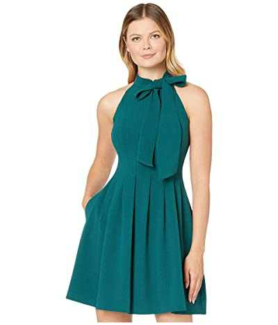 Vince Camuto Kors Crepe Fit Flare w/ Bow Neck (Hunter) Women