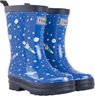 Hatley Boys' Printed Rain Boots Raincoat Athletic Astronauts 11 US Child