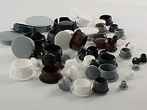 25 stuks afdekdoppen grijs 13 x 10 x 6,3 mm
