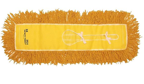 Golden Star AJU36ITG Jumbo Infinity Twist Dust Mop Head Pack of 12