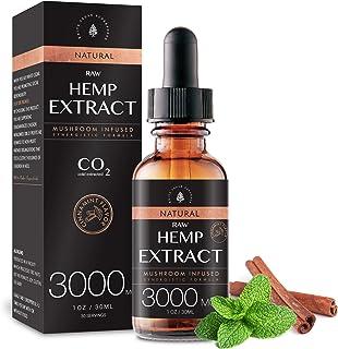(2-Pack) Raw Hemp Oil - 3000MG - Cinnamint Flavor - Enhanced Efficacy, Made in USA - Rich in Omega 3-6-9 Fatty Acids, Kosh...