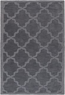 Artistic Weavers Central Park Abbey Charcoal 9'x12' Solid/Striped Area Rug
