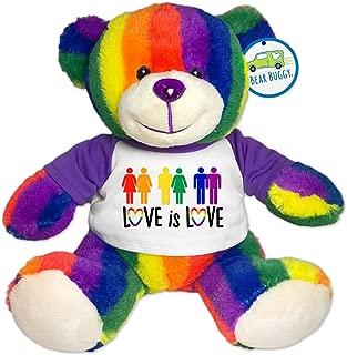 Bear Buggy Love is Love Plush Animals by RGU (Rainbow Pride Teddy, 9