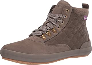 Keds Women's Scout Boot II Suede/Nylon Ankle, Olive, 8.5