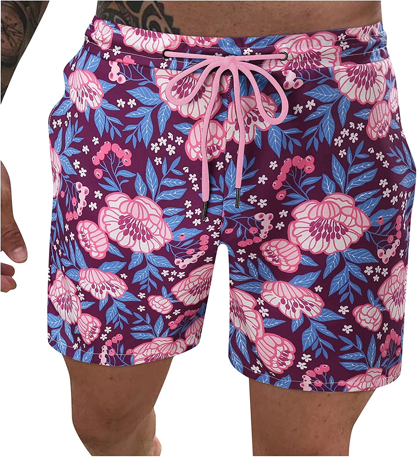 FUNEY Summer Shorts for Mens Casual Swim Trunks Quick Dry Breathable Sports Beach Surfing Running Swimming Board Shorts