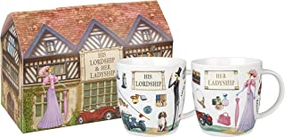 Churchill At Your Leisure His and Hers Fine China Gift Coffee Mug, Set Of 2