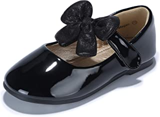 33937504f143 PANDANINJIA Toddler Little Kid Megan Flower Girl Dress Shoes School Wedding  Party Mary Jane Ballet