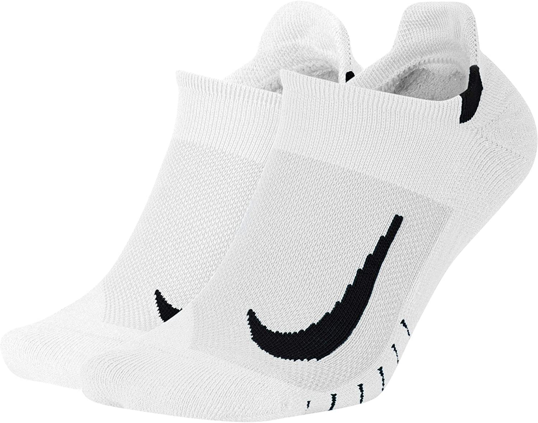 Nike unisex-adult Unisex Nike Multiplier Running No-show Socks (2 Pairs)