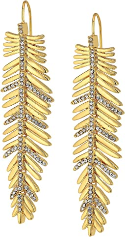 LAUREN Ralph Lauren - Pave Linear Feather Earrings