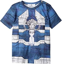 Versace Kids - Short Sleeve Medusa Logo Graphic T-Shirt (Infant)