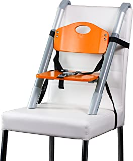 Booster Seat – Svan Lyft High Chair Booster Seat - Adjusts Easily to Most Chairs - Orange (18 Mo to 5 Yrs)