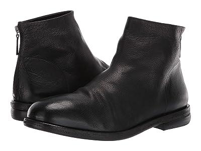 Marsell Smooth Back Zip Boot (Black Buffalo) Men