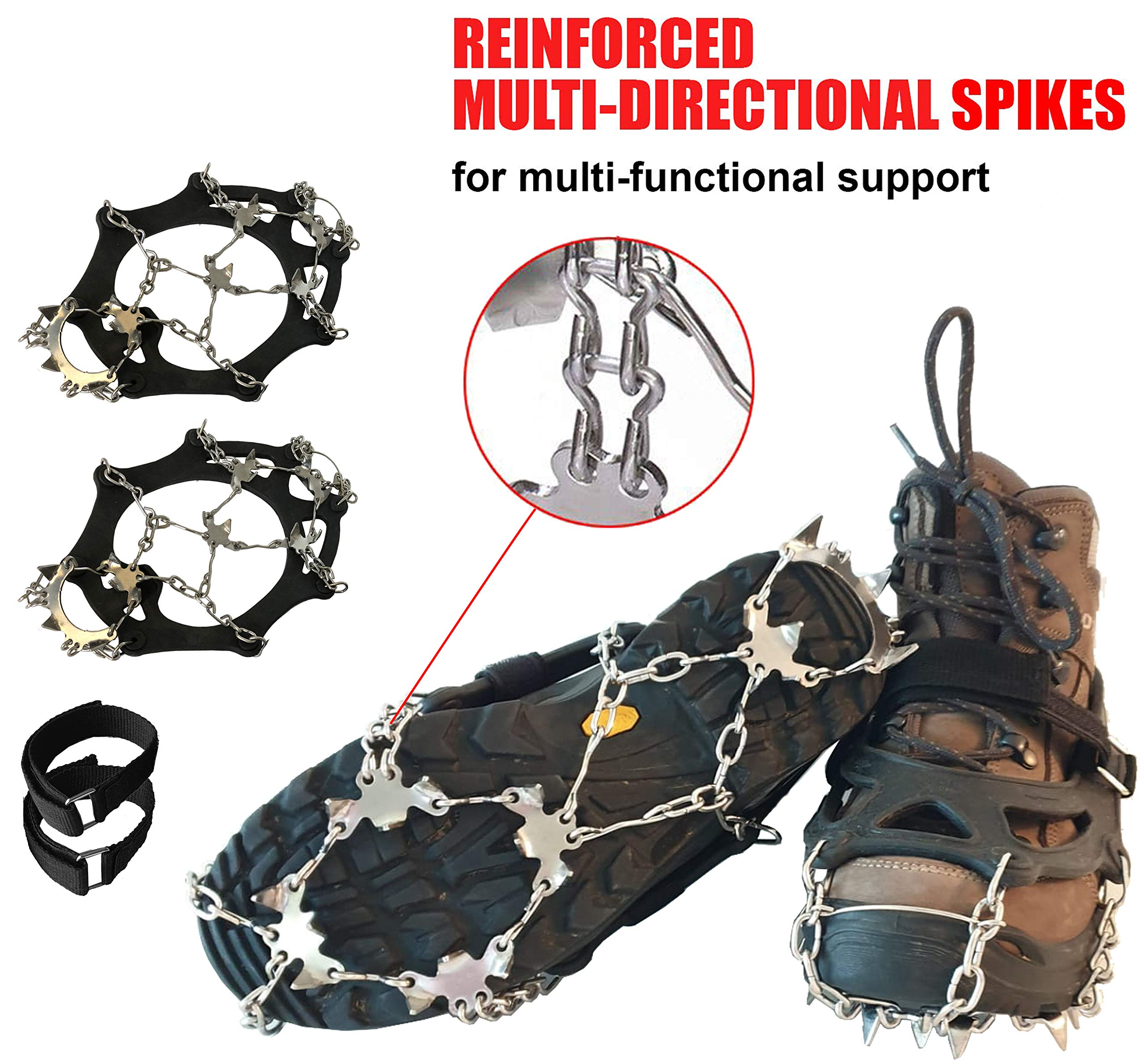 Shoe Grips on Bottom of Shoes Quickly /& Easily O Crampons Ice Traction Cleats