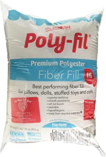 Fairfield PF16B Poly-Fil Premium Polyester Fiber, 16 Oz, White