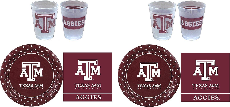 Envío rápido y el mejor servicio Westrick Texas A&M Aggies Aggies Aggies Suministros de fiesta – 81 piezas 2-(Pack)  diseño único