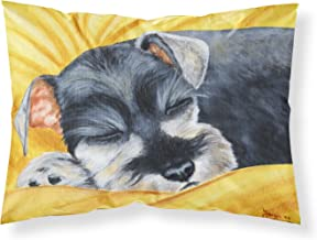 Caroline's Treasures Snoozing Schnauzer Fabric Standard Pillowcase AMB1161PILLOWCASE, AMB1161PILLOWCASE, Multicolor, Standard