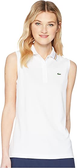 Sleeveless Ultra Dry Tennis Polo with Mesh Back