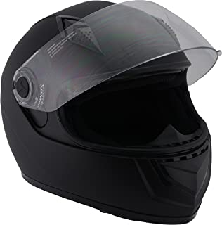 Milwaukee Performance Helmets Unisex-Adult Full face Velocity Helmet (Matte Black, X-Small)