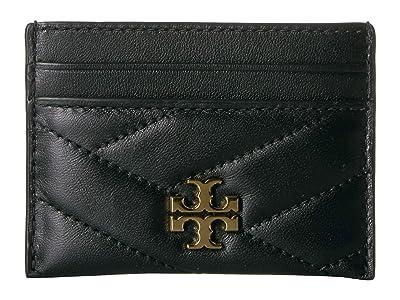 Tory Burch Kira Chevron Card Case (Black) Wallet Handbags