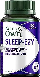 Nature's Own Sleep Ezy Calming Herbal Sleep Complex Relieves Sleeplessness Calms Nerves, 100 Capsules