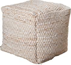 Christopher Knight Home Bella Ivory Fabric Pouf
