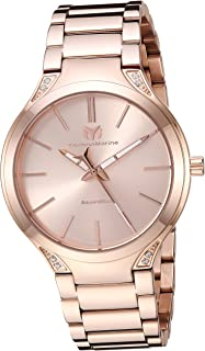 Women's MoonSun Quartz Watch with Stainless-Steel Strap, Rose Gold, 20 (Model: TM-117034)
