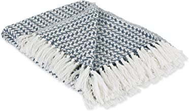 DII Global Arrowhead Woven Throw, 50x60, French Blue