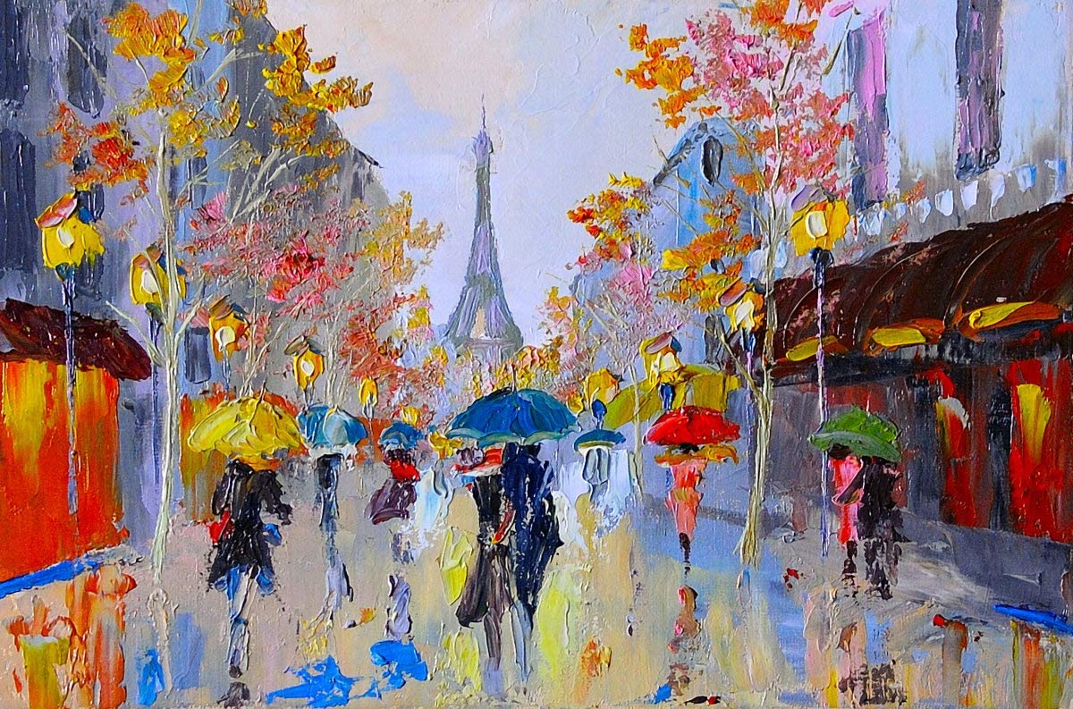 L-APERATURE Paint by Numbers for Adults DIY Adult Paint by Number Kits for Beginners on Canvas Rolled Unframed 16 by 20 Very Paris Under Eiffel