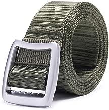 AXBXCX Non-Slip Tactical Belt, 1.5 Inch Wide Heavy-Duty Reinforced Thick Belt - Military Nylon Webbing Waist Belt