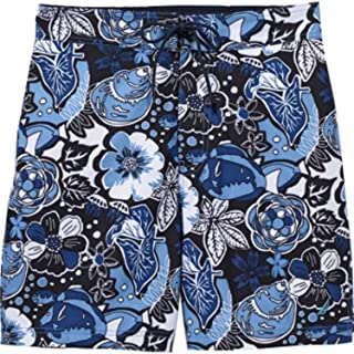 Nautica Men's Swim E-board Short. Elastic Waist, Inner Key Pocket, Mesh Brief Lining