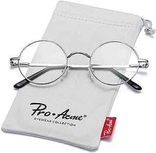 Non Prescription Clear Lens Glasses Retro Small Round Metal Frame