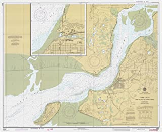 Map - Cook Inlet Fire Island To Goose Creek, AK, 1977 Nautical NOAA Chart - Vintage Wall Art - 44in x 36in