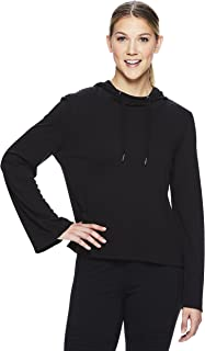 Gaiam Women's Pullover Crop Hoodie - Hooded Activewear Workout & Yoga Sweater