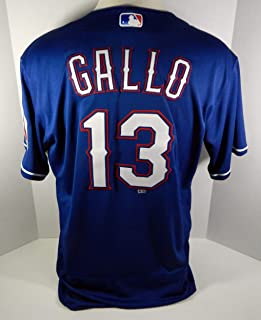 cdd2c489c 2018 Texas Rangers Joey Gallo  13 Game Issued Blue Jersey RNGRS104 - Game  Used MLB