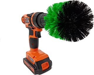 The Beast Brush - (Green - Stiff) Cone Power Brush Drill Attachment for Cleaning Showers, Tubs, Bathrooms, Tile, Grout, Carpet, Tires, Boats