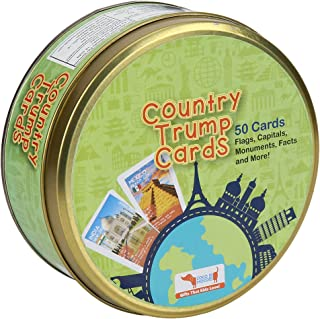 CocoMoco Trump Cards- Countries, Famous Monuments and Buildings- Geography Games, Educational Toy, Return Gift for Kids Ag...