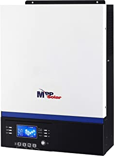MPP SOLAR 5000w Pure Sine Wave Solar Inverter Built-in 80A MPPT Charger max PV Input 500V 220-240V Single Phase 50HZ 60HZ Bluetooth Android Monitoring - Requires Step-Down Transformer in USA!!