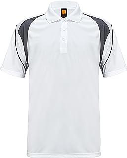 ZITY Moisture Wicking T-ShirtMen's Polo Cool Quick-Dry Shirt White US XL/Label 3XL