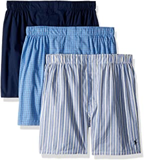 Men's 3-Pack Classic Fit Packaged Woven Boxers