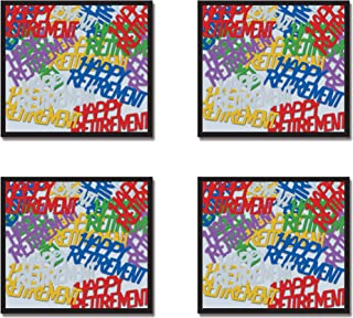 Beistle S50646MCAZ4, 4 Packages Happy Retirement Fanci Fetti, 0.5 Ounces of Confetti in Package, Total of 2 Ounces of Confetti (Multicolor)