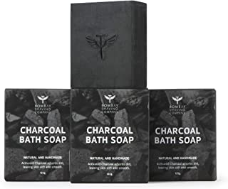 Bombay Shaving Company Activated Bamboo Charcoal Bath Soap for Deep Clean and Anti-pollution Effect, 125g (Pack of 3) | Ma...